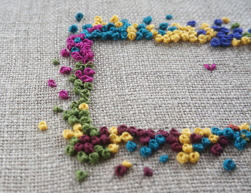 French knot close-up