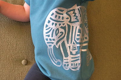 Elephant Stencil on the shirt