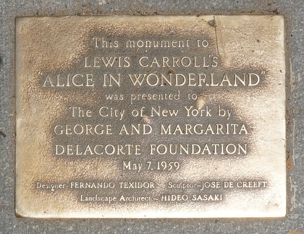 Alice in Wonderland Central Park