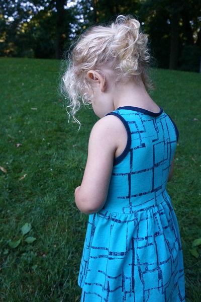 Imprint knit dress