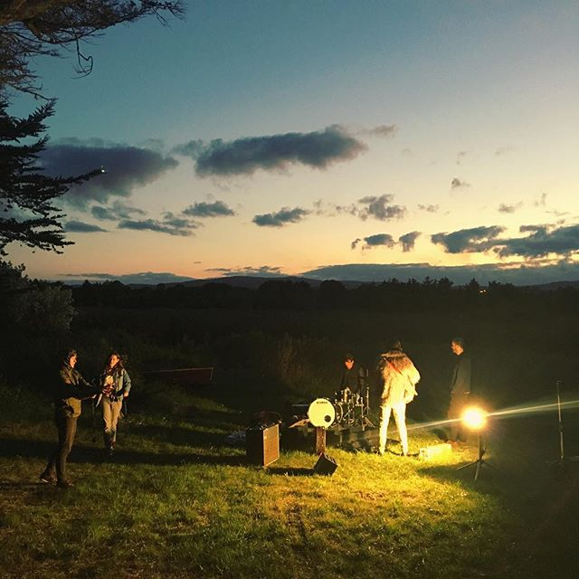 Last night was a lovely time for an outdoor shoot. @scottmahermusic #sunset #musicvideo #goodvibes #ireland #wicklow #horizon #sky #setlife #shoot #bts #director #camera #ajfilm #photo #music