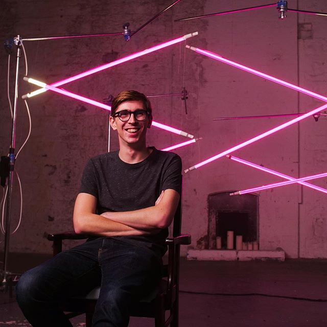 Cheers to @robnjk for this snap of me at our shoot for @kouture.me last week. #film #shoot #junkkouture #lighting #photography #camera #ireland #ajfilm #gh5 #director #production #bts #pink #goodvibes #fashion #video #lights #art #creative