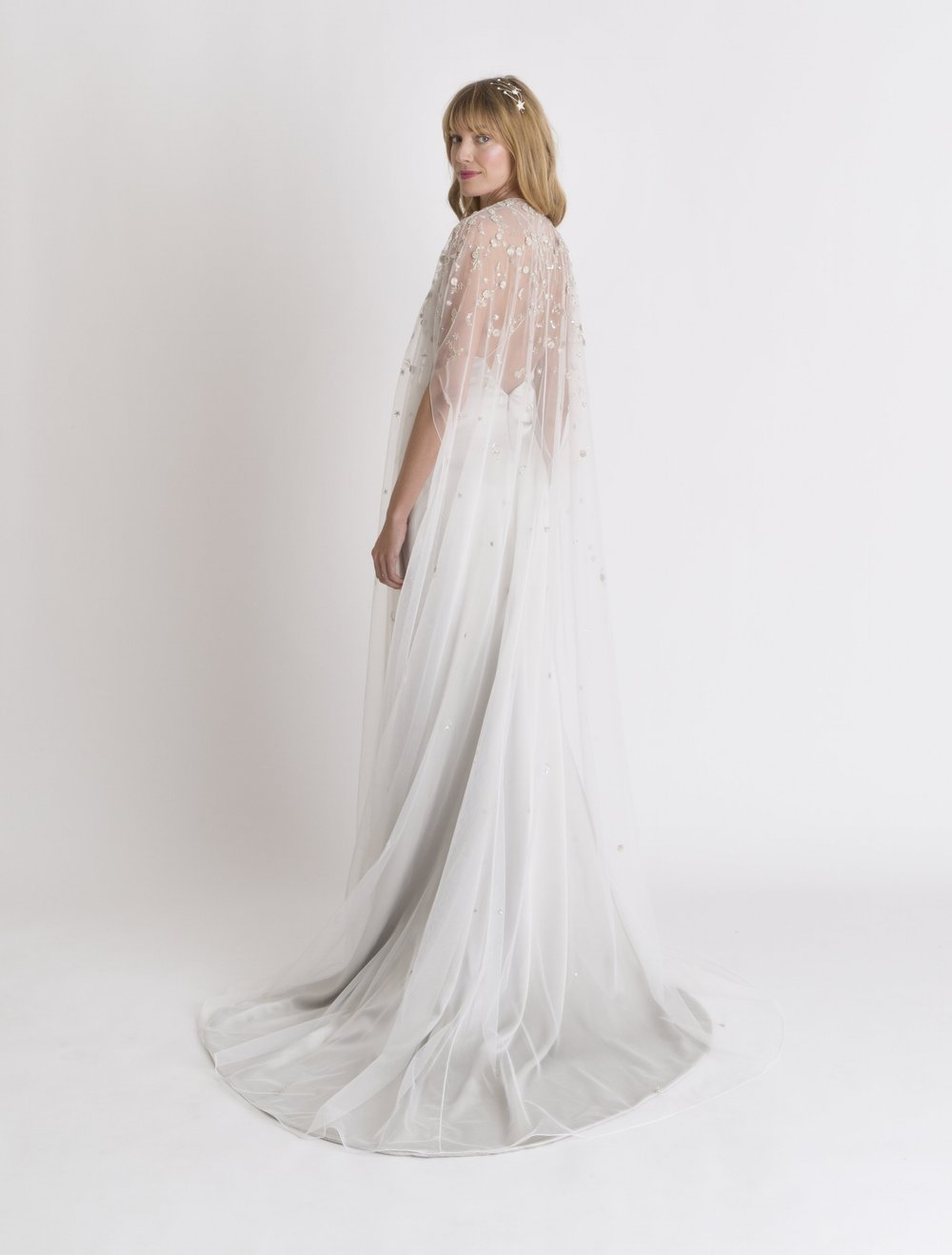Luna Cape with Astrid Slip Gown