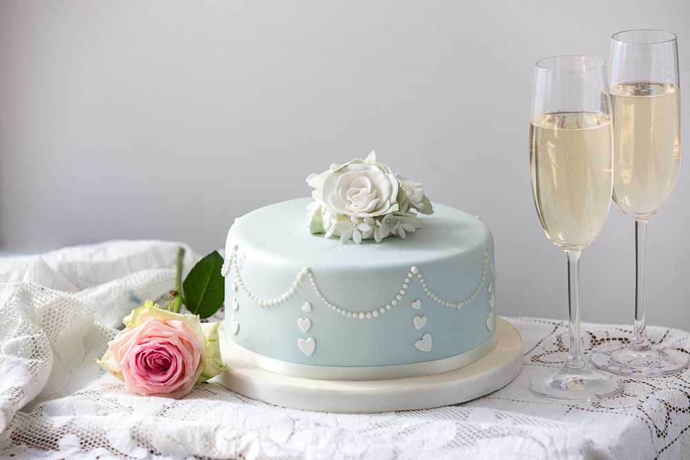 wedding type cake with champagne.jpg