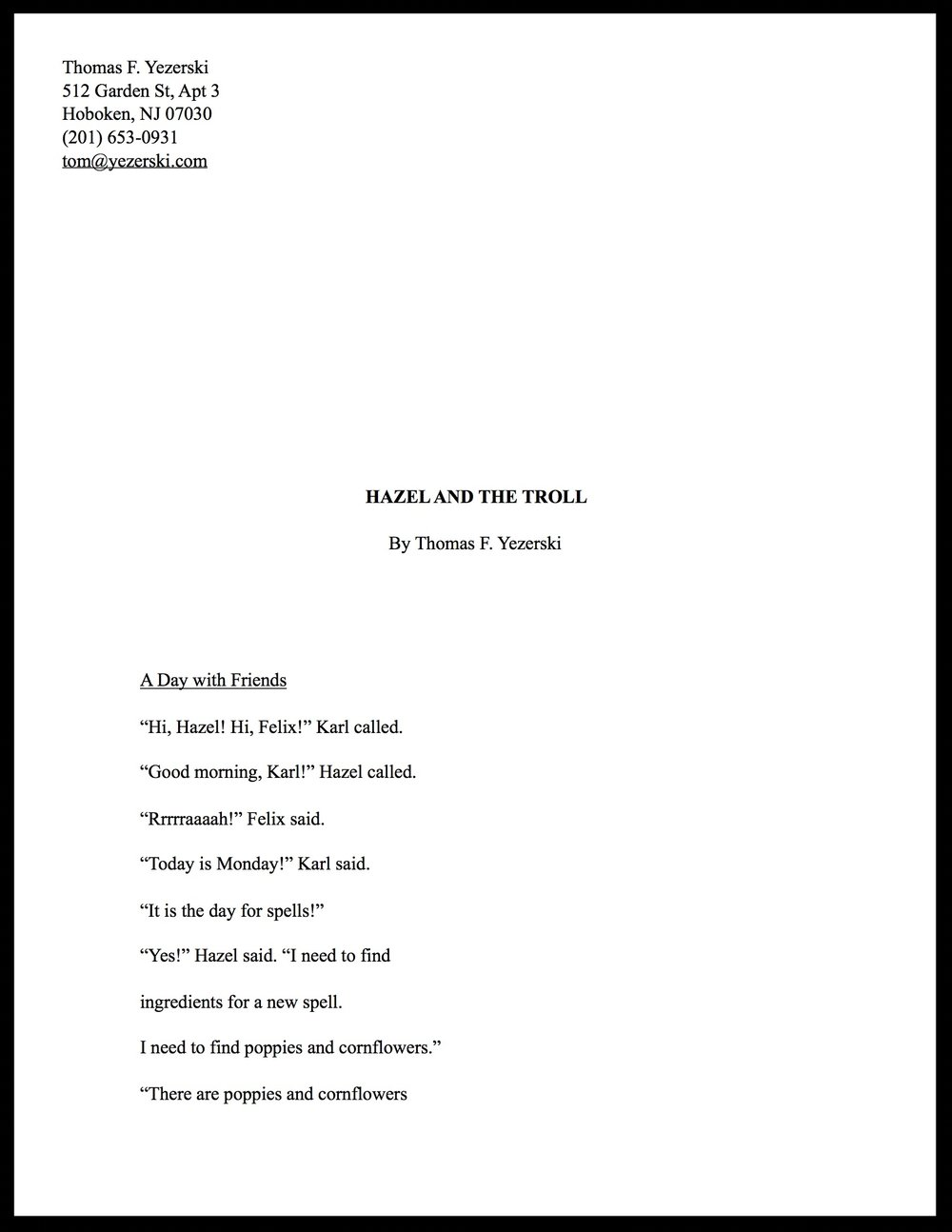Hazel and the Troll (Manuscript)