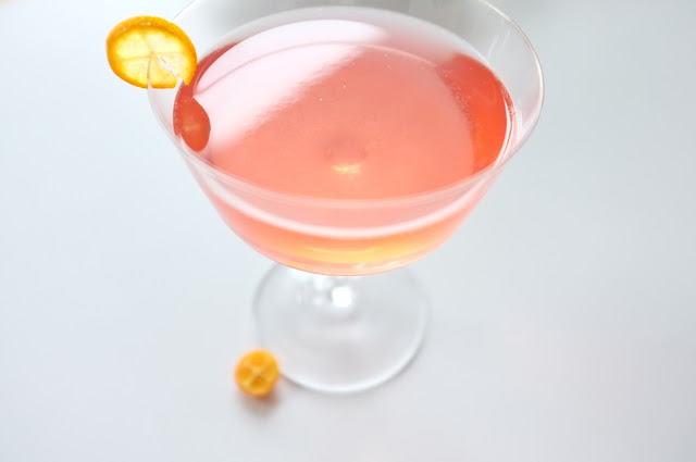 kumquat campari martini