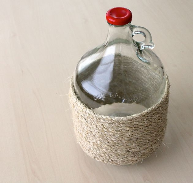 DIY Glass Jug Upcycle // poppy haus