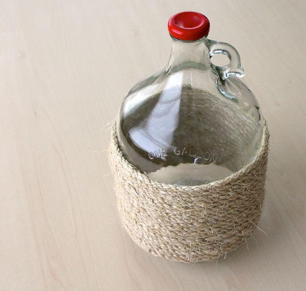 DIY Glass Jug Upcycle // poppy haus