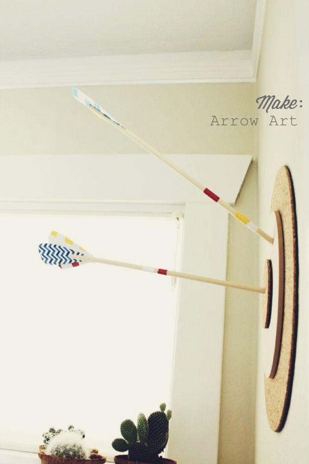 DIY Bullesye + Arrow 3D Art// Poppy Haus