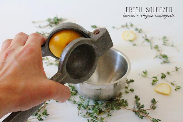Lemon-Thyme Vinaigrette // Poppy Haus