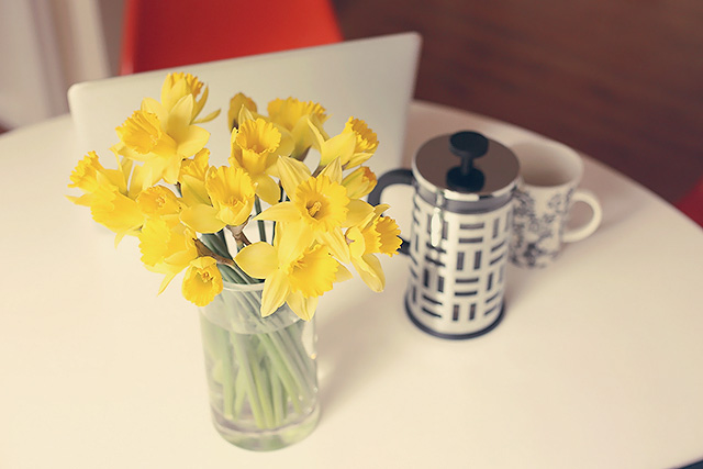easy daffodil arrangement