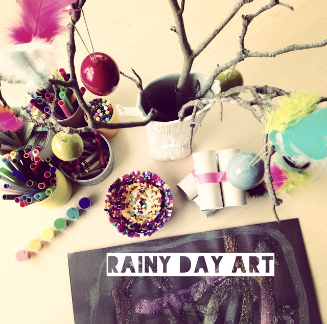Great art projects for kids, all found on Pinterest