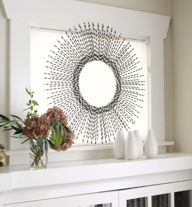 Kikkerland straw chevron wreath-DIY