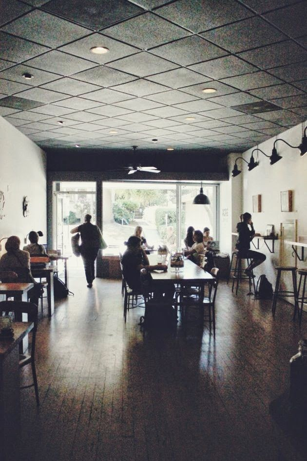 A midday stop at Acre Coffee, downtown Petaluma