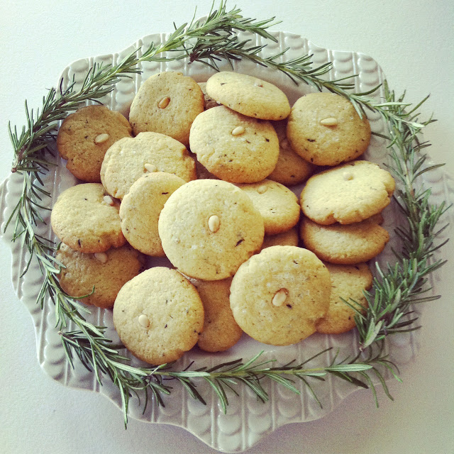 Rosemary Pinenut Cookies