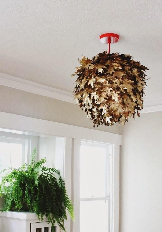 DIY Fallen leaf Lanten