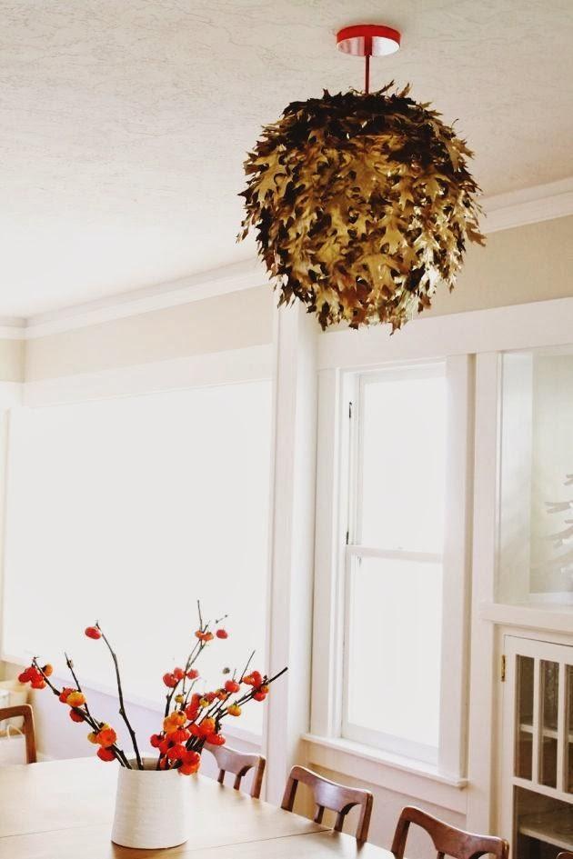 DIY Fallen Leaf Lantern