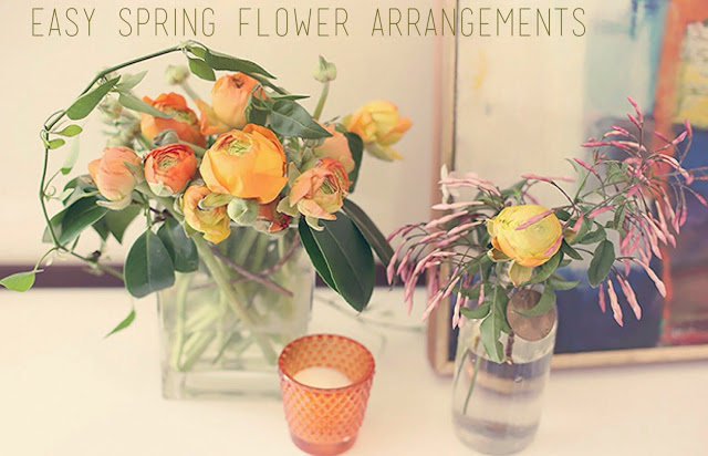 Make beautiful flower arrangements using grocery store flowers