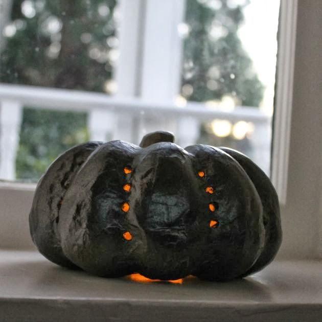 Luxe Pumpkin Luminarias DIY // Poppy Haus