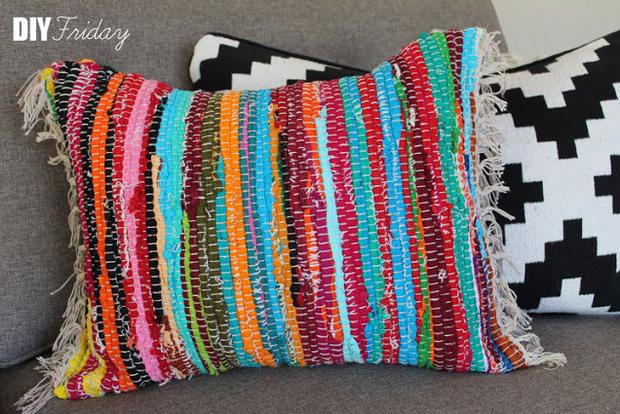 Diy Friday Rag Rug Pillow Make Haus