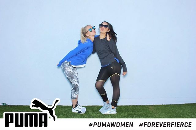 Last night I had the opportunity to attend Puma's #ForeverFierce launch party at The London Hotel. Not only did we get awesome Puma workout gear, but  we also got a pair of their new 'Fierce' sneaker! We got to break them in with a kick ass work out from Nichelle Hines from Cycle House! Can't get any better than that!