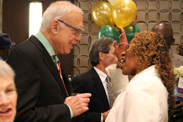 Arthur Winn with Gail Latimore, CSNDC Executive Director