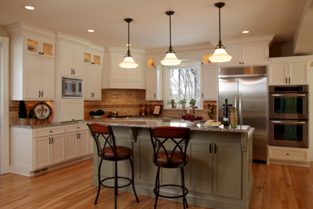 Eco friendly interior design client project letitia for Benjamin moore linen white kitchen cabinets