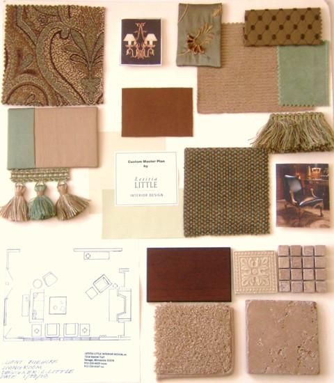 Interior Design Fabric Presentation Boards