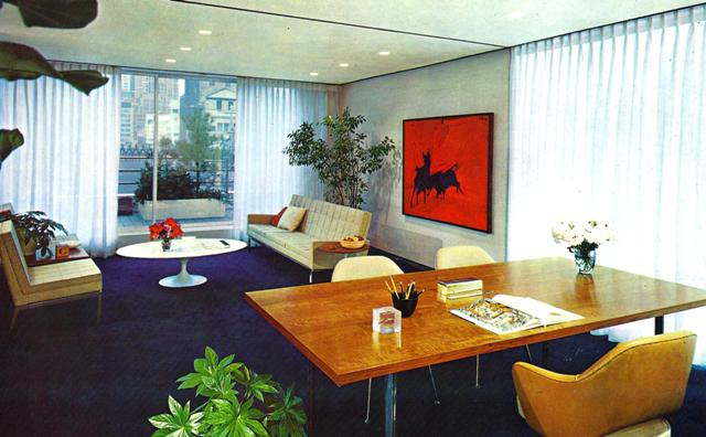 Mid century modern style letitia little interior design for 60s office design