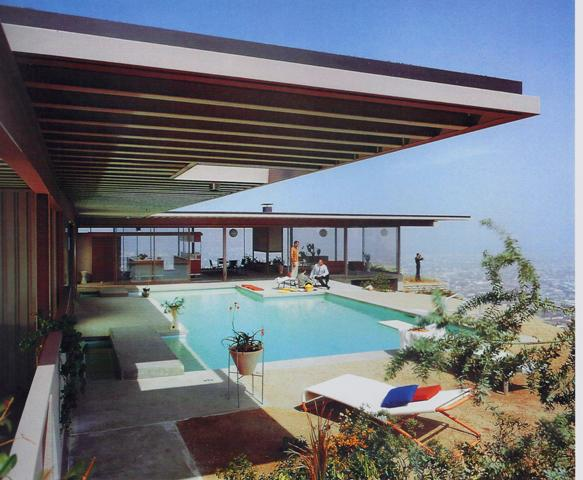 Mid century modern style letitia little interior design for Pool design 1970