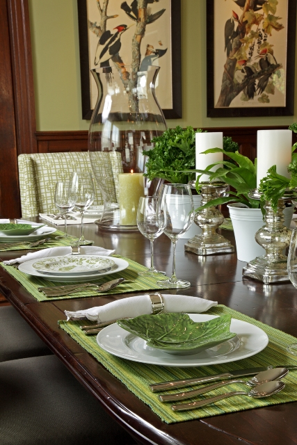 Dining Room Layout Convention Set Up Before After Asid Showcase House Part
