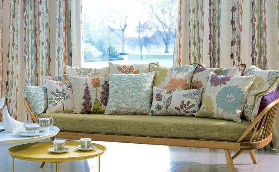 Mid Century Modern Interiors1950s Inspired fabrics Letitia