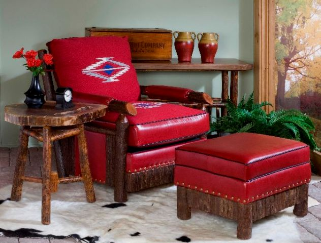 Old Hickory leather chair