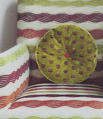 red green pillow