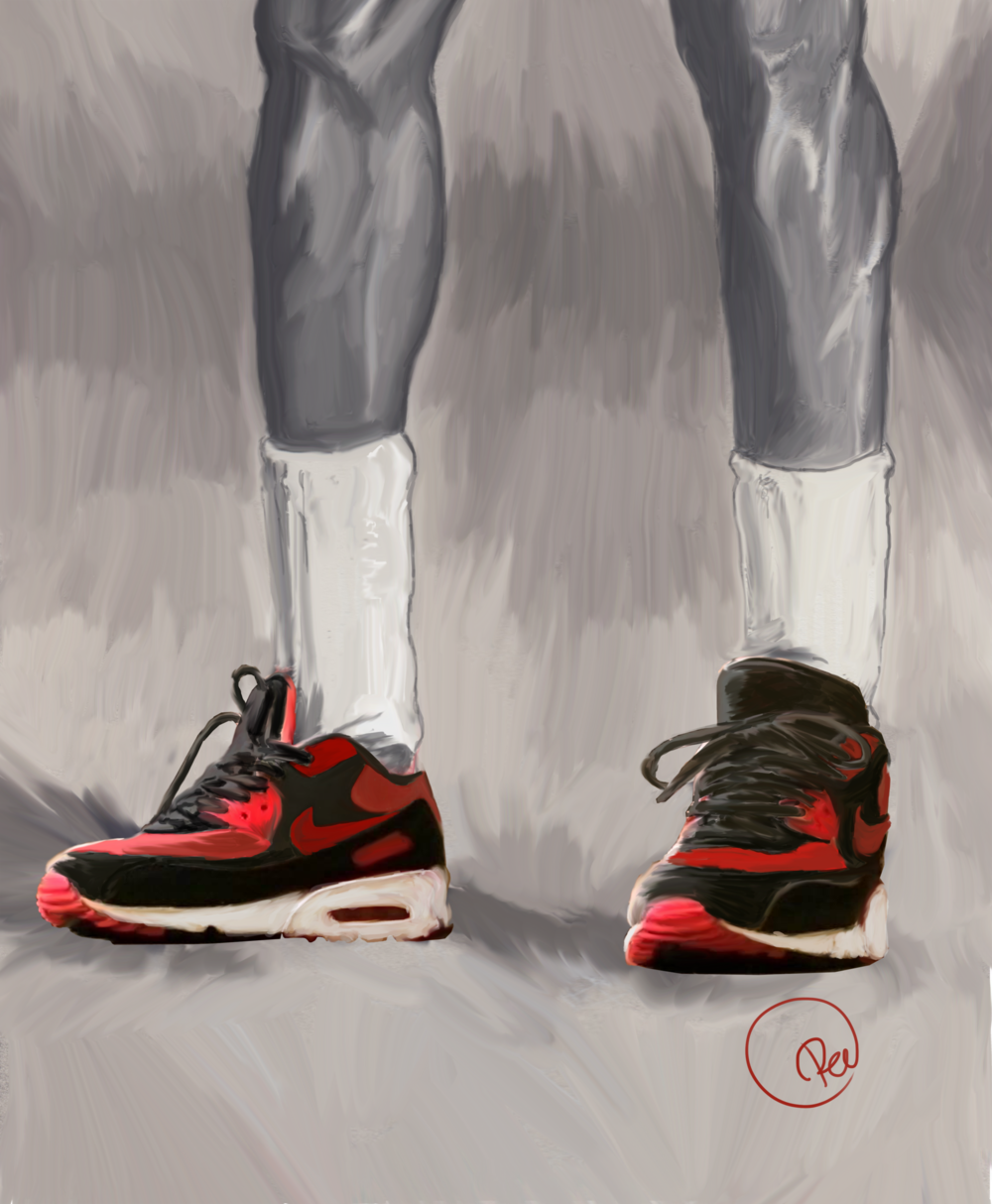 "MICHAEL JORDAN - For this tribute to Michael Jordan's influence and contribution to basketball and entertainment, Pel of PELNYC reinvents the artwork he created of the Nike Band One advertisement. Pel was 1 of 50 worldwide artists selected to create art for ""Michael Jordan's 50th birthday celebrated through Nike"" collection featured in the Houston Museum of fine arts in 2013."