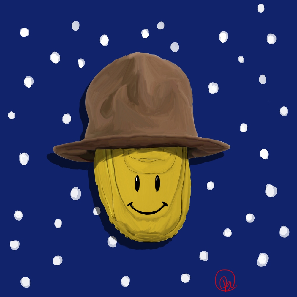 "Happy / Pharrell  - A nod to the feel-good song ""Happy"", written, produced and performed by artist Pharrell Williams (and the minions of Despicable Me 2), the best-selling song of 2014  and one of the best-selling singles of all time."