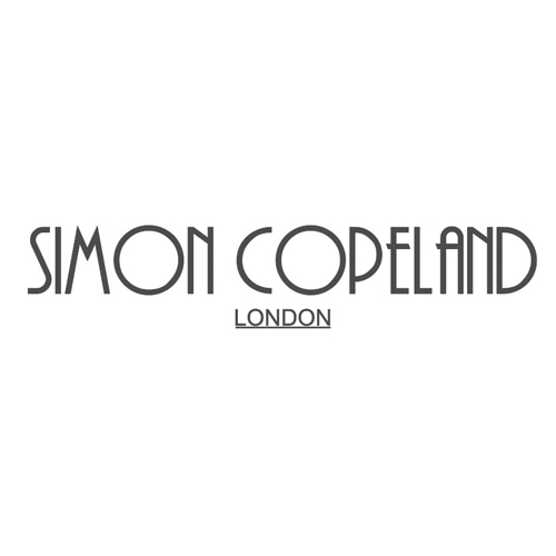 SIMON COPELAND    Simon is a couturier who has flown all over the world to create exclusive one-off pieces for his celebrity clients. Having graduated from London College of Fashion, Simon has assembled a team of specialist seamstresses and craftsmen who help to transform his unique and exclusive pieces.