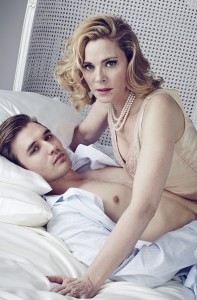 Seth Numrich and Kim Cattrall portrait. Credit Jay Brooks