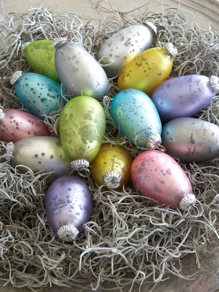 Nordic House Glass Easter Eggs