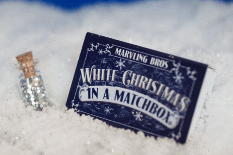 white xmas matchboxy