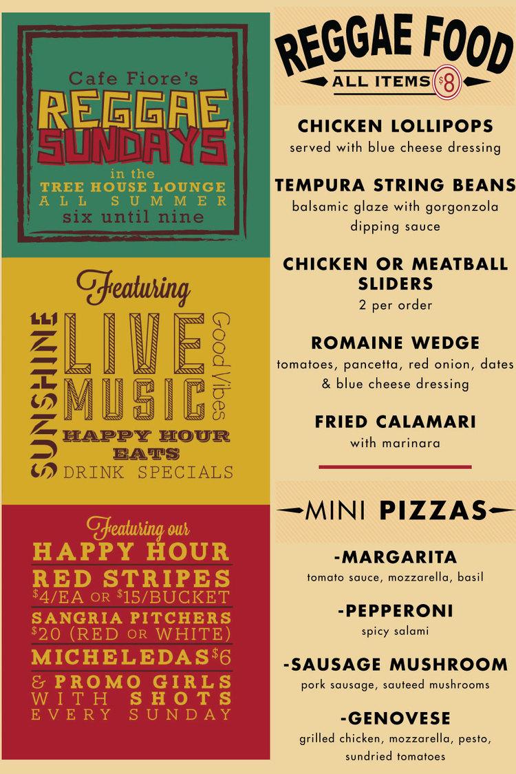 Reggae Sundays Cafe Fiore Ventura