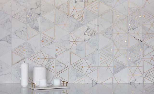 The Ethereal Collection from @akdo_usa is elegant, delicate and  exquisite... #repost from @akdo_usa #midcenturymodern #geometric #mixedmedia #metalic #marblemosaic #tileandstone #interiordesign #homedecor #homeaccents #oaklandcommunity #oaklandrealestate #bayarea #eastbaybusiness
