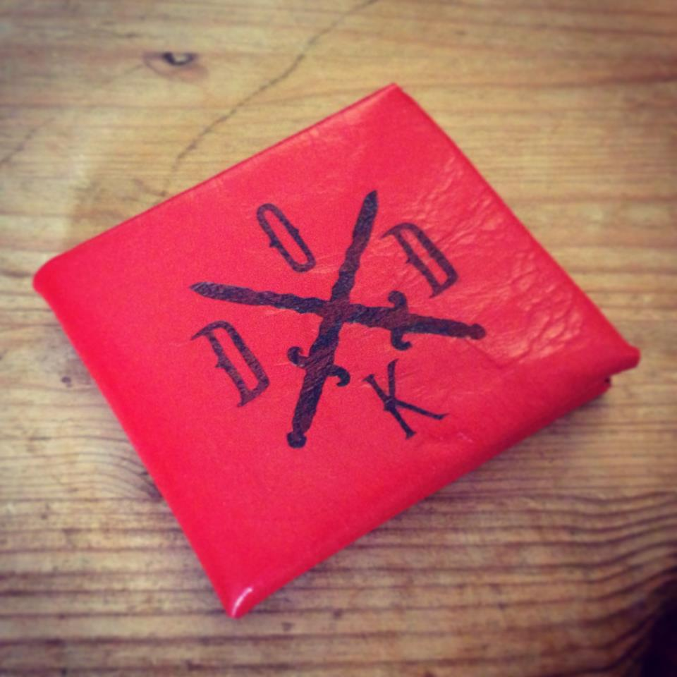 One of our very talented friends from DODK had this custom laser engraved bi fold wallet made up in a bold red leather.