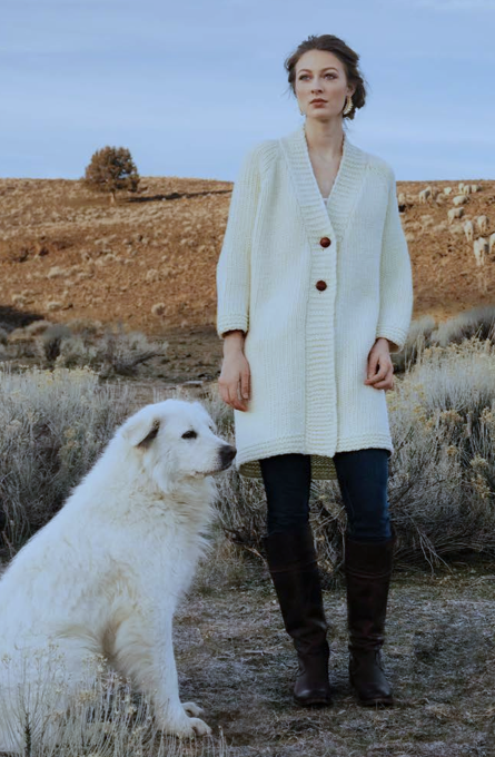 The Olivia Cardigan Imperial Wool Collection by Anna Cohen