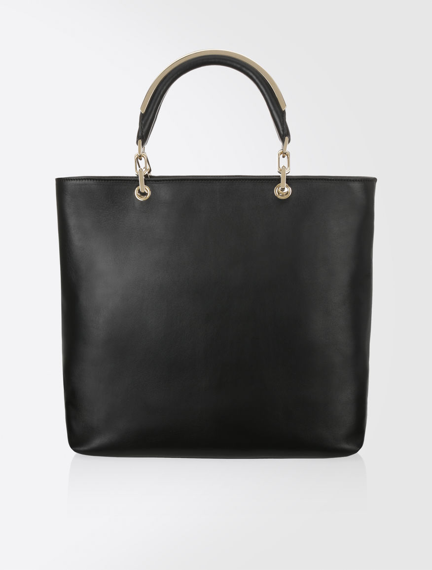 Max Mara Napa Leather Shopping Bag Black