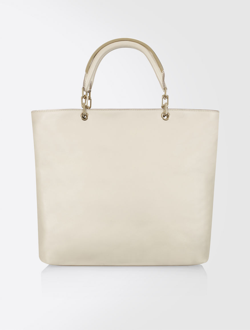 Max Mara Napa Leather Shopping Bag Ice