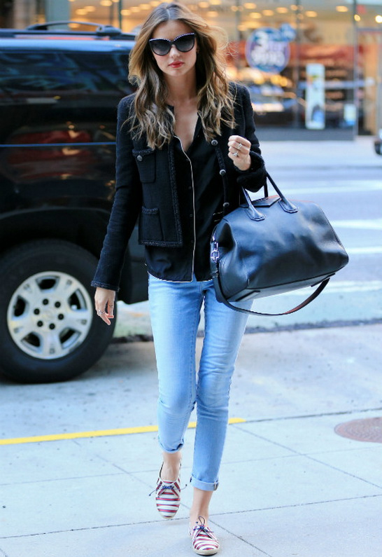 Miranda Kerr in Frame Denim