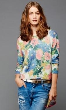Autumn Cashmere Floral Print Pullover
