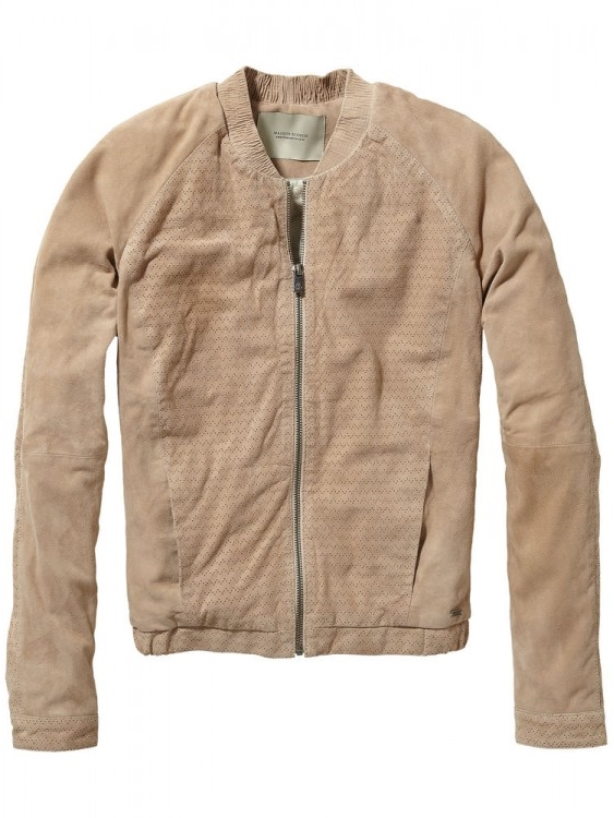 Maison Scotch Suede Bomber Jacket