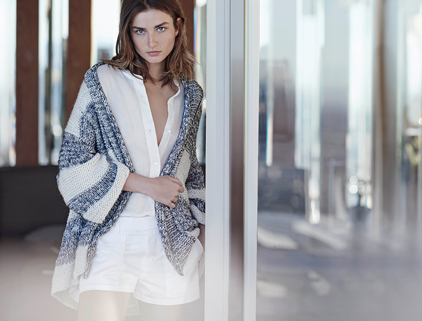 vince textured cardigan spring 2015